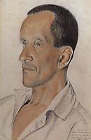 Portrait of Konstantin Nicolayevich Igumnov, 1923, kustodiev