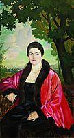 Portrait of M.V. Chaliapina, 1919, kustodiev