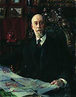 Portrait of N.K. von Meck, 1913, kustodiev
