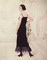 Portrait of Natalia Orshanskaya, 1925, kustodiev