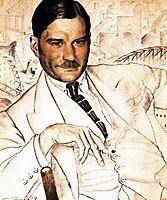 Portrait of Yevgeny Zamyatin, 1923, kustodiev