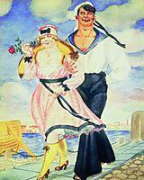 Sailor and His Girl, 1920, kustodiev