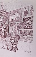 Workshop, 1926, kustodiev