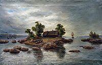 Farmhouse on the island, 1895, lagorio