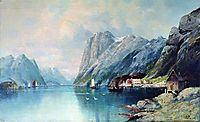 Fjord in Norway, 1899, lagorio