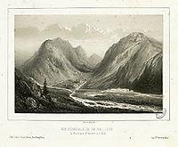 Vue générale de la Raillère, le pré, le Petit St. Sauveur et le Bain, lalanne