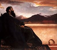 David, at rest, 1865, leighton
