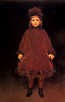 Portrait of a Young Girl, leighton