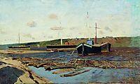 Volga. Barges., c.1895, levitan