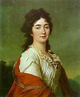 Portrait of Countess A. S. Protasova, c.1795, levitzky