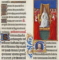 The Pope and His Cardinals, limbourg