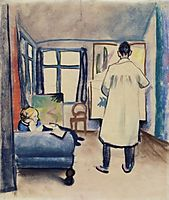 FranzMarc andMaria in thestudio, 1912, macke
