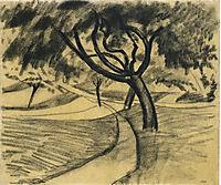 Treesand fields, 1911, macke