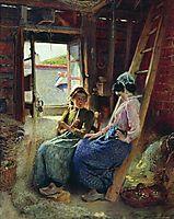 Two Breton Women, makovsky