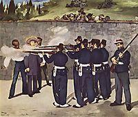 The Execution of Maximilian, Emperor of Mexico, 1868, manet