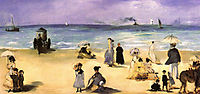 On the beach at Boulogne, 1869, manet