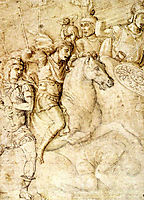 Study of an Ancient Bas Relief of the Arch of Constantine, 1490, mantegna