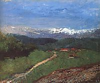 Landscape in the Alps (View from the Rax), 1900, mednyanszky
