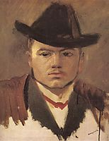 Peasant Boy with Hat (study), mednyanszky