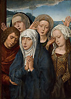 The Mourning Virgin with St. John and the Pious Women from Galilee, 1485, memling