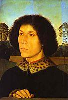 Portrait of a Man in a Landscape, memling