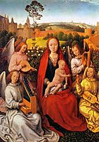 Virgin and Child with Musician Angels, memling