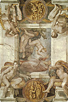 The Creation of Eve, michelangelo