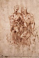 St Anne with the Virgin and the Christ Child, 1505, michelangelo