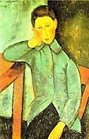 The Boy or Boy with blue waistcoat, 1918-1919, modigliani