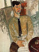 Portrait of Henri Laurens, 1915, modigliani
