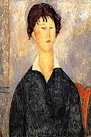 Portrait of a Woman with a White Collar, 1919, modigliani