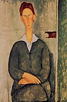 Red-haired young man, 1919, modigliani