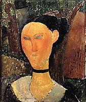 Woman with Velvet Ribbon (The Black Border), 1915, modigliani