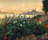 Argenteuil, Flowers by the Riverbank, 1877, monet