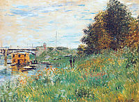 The Banks of the Seine at the Argenteuil Bridge, 1874, monet