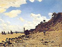 The Beach at Honfleux, monet