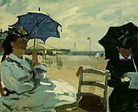 The Beach at Trouville, 1870, monet