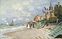 The Boardwalk on the Beach at Trouville, 1870, monet