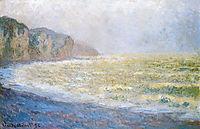Cliff at Pourville, 1896, monet