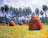 Haystacks at Giverny, 1884, monet