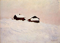 Houses in the Snow, 1895, monet