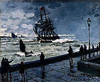 The Jetty at Le Havre, Bad Weather, 1870, monet