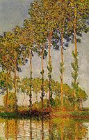 Poplars, Row in Autumn, 1891, monet