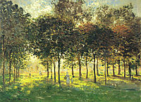 The Promenade at Argenteuil, Soleil Couchant, 1874, monet