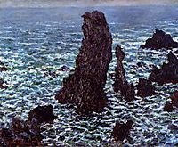 Pyramids at Port-Coton, Rough Sea, 1886, monet