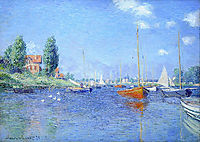 Red Boats, Argenteuil, 1875 (oil on canvas), 1875, monet