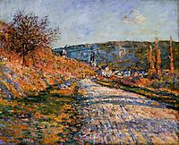 The Road to Vetheuil, 1880, monet