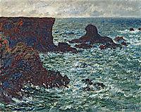 Rocks at Port Coton, the Lion Rock, 1886, monet
