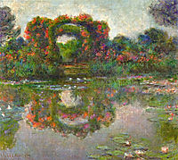Rose Flowered Arches at Giverny, 1913, monet
