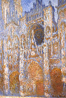 Rouen Cathedral, The Portal at Midday, 1893, monet